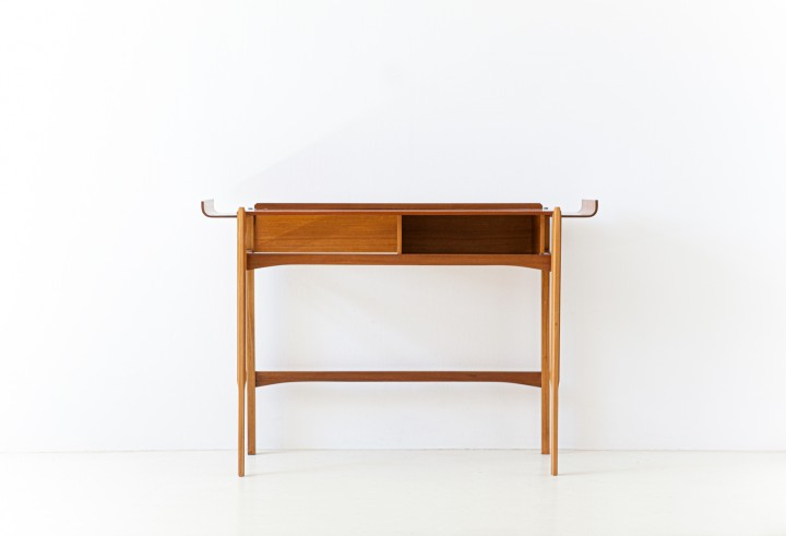 Italian Mid-Century Modern Teak Console Table , 1950s OF106