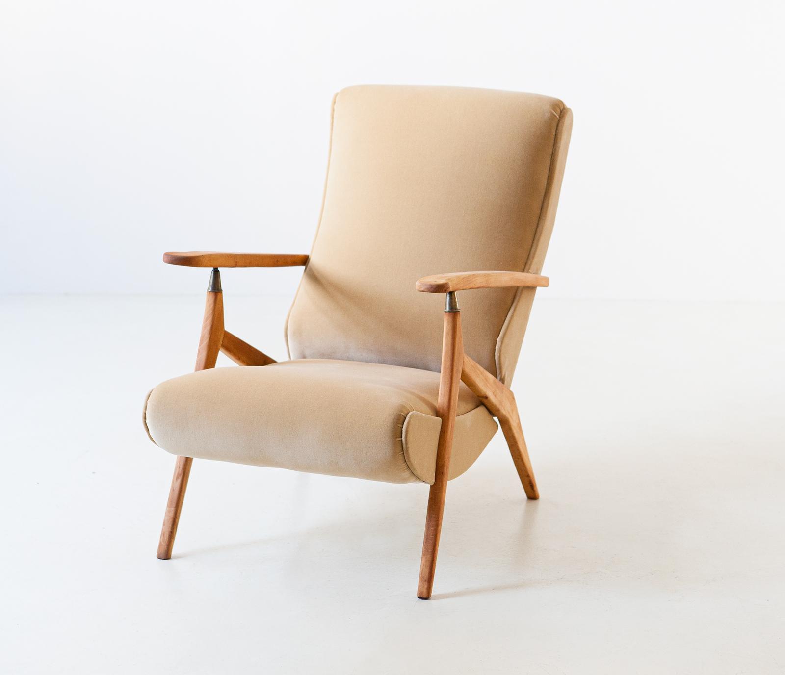 1950s-beech-and-sand-velvet-reclirer-lounge-chair-6-se320