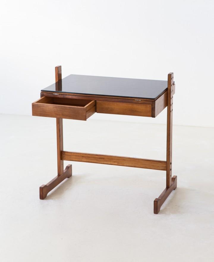 1950s beech wood desk DT37