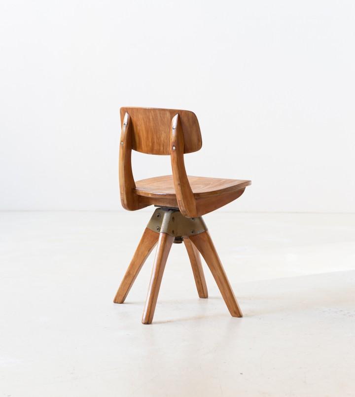 1950s Beech wood stool SE343