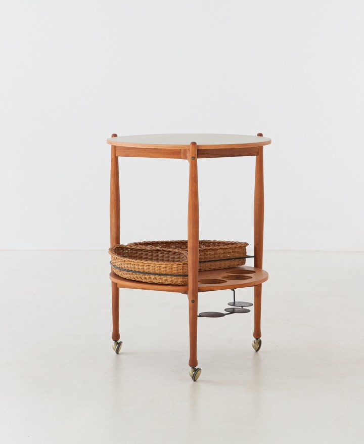 1950s beech wood trolley by fratelli reguitti  OF94