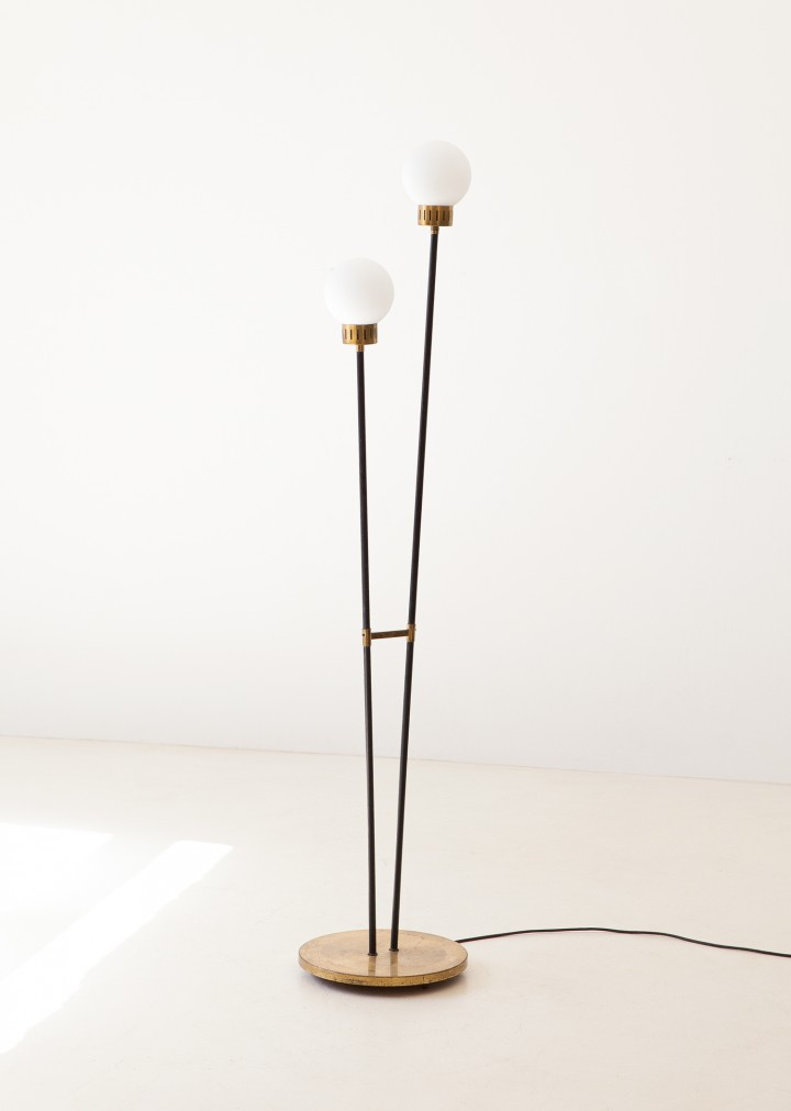 1950s brass and opaline glass base lamp L88 – NOT AVAILABLE