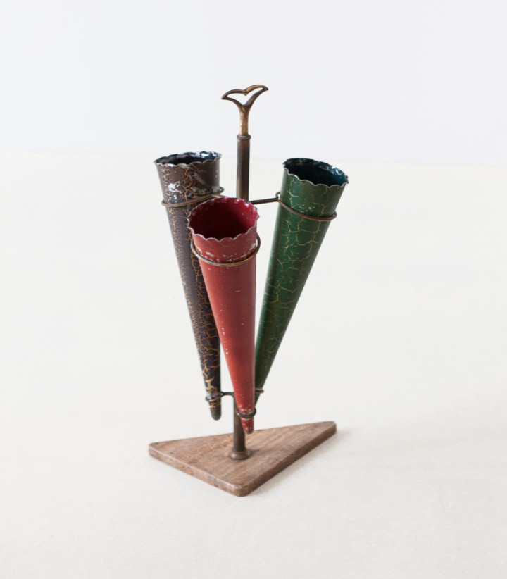 1950s marble and brass tricolor umbrella holder – OF96