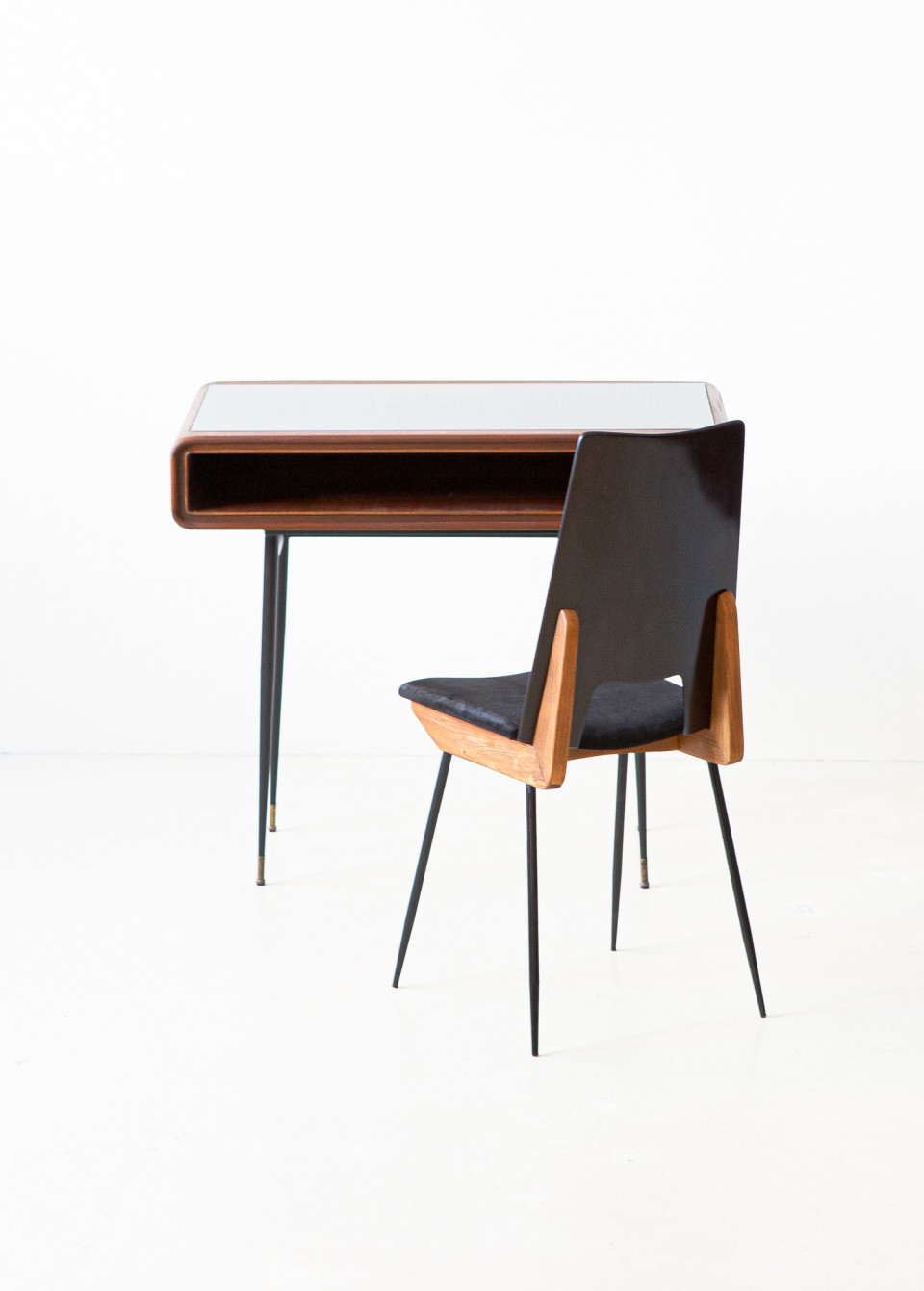 1950s Italian desk by fratelli Strada with Carlo Ratti chair