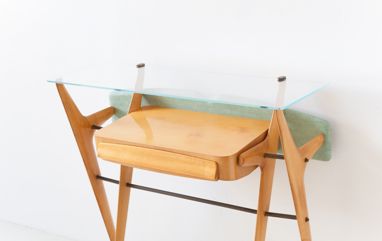 1950s Italian sculptural maple console OF114
