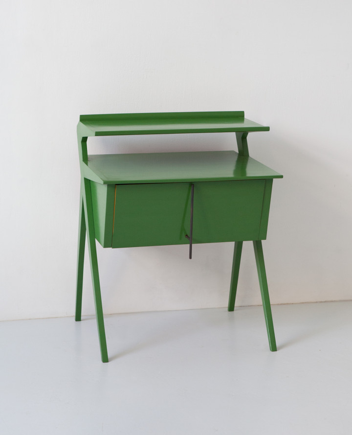 1950s italian green lacquered little sideboard ST127