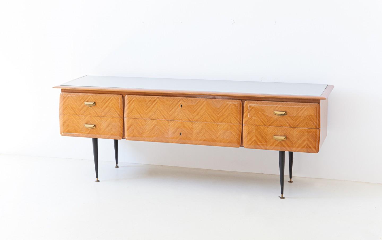 1950s Italian blond mahogany chest of drawers ST124