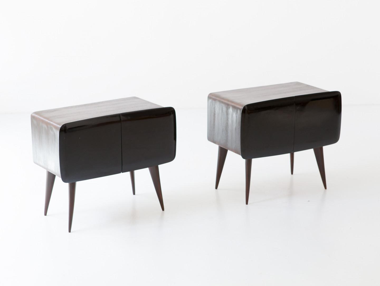 1950s italian dark wood bedside tables bt97