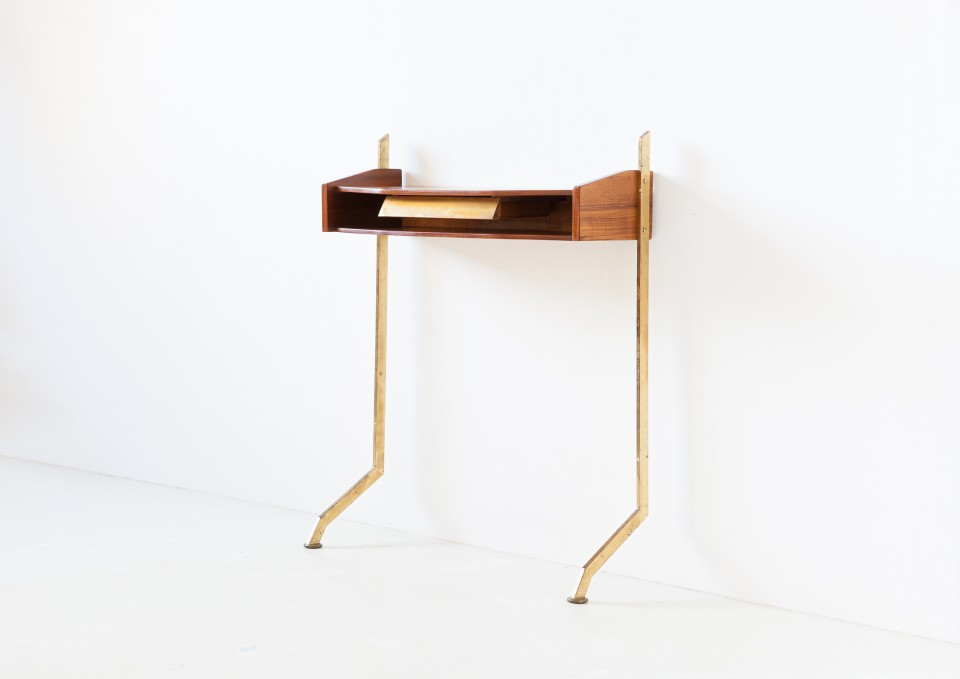 1950s Italian teak and brass console  OF112 – No longer available..