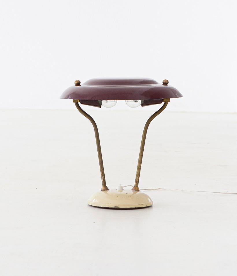 1950s Italian double bulbs desk lamp L83