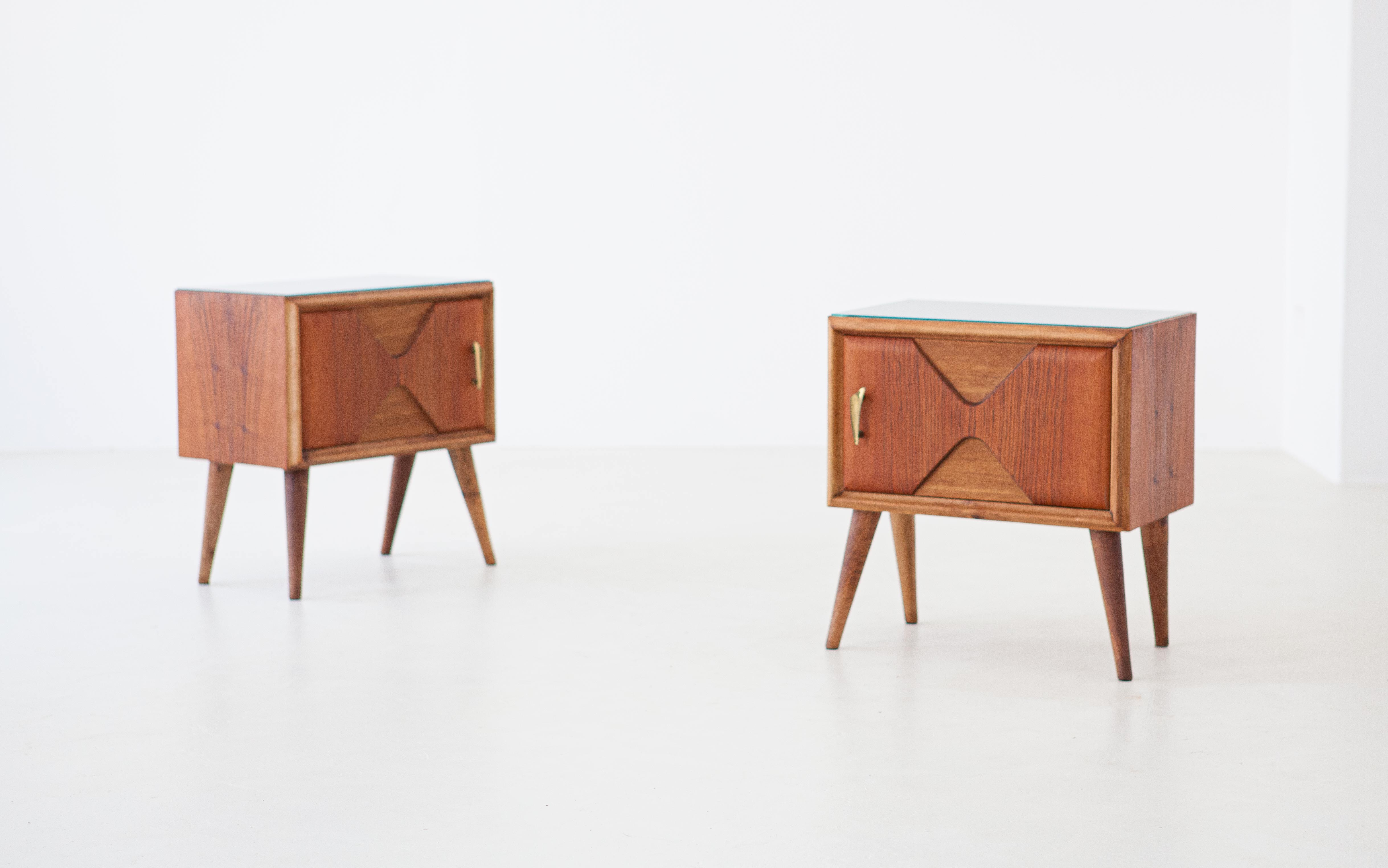 1950s-italian-exotic-wood-brass-glass-bedside-tables-1-BT81