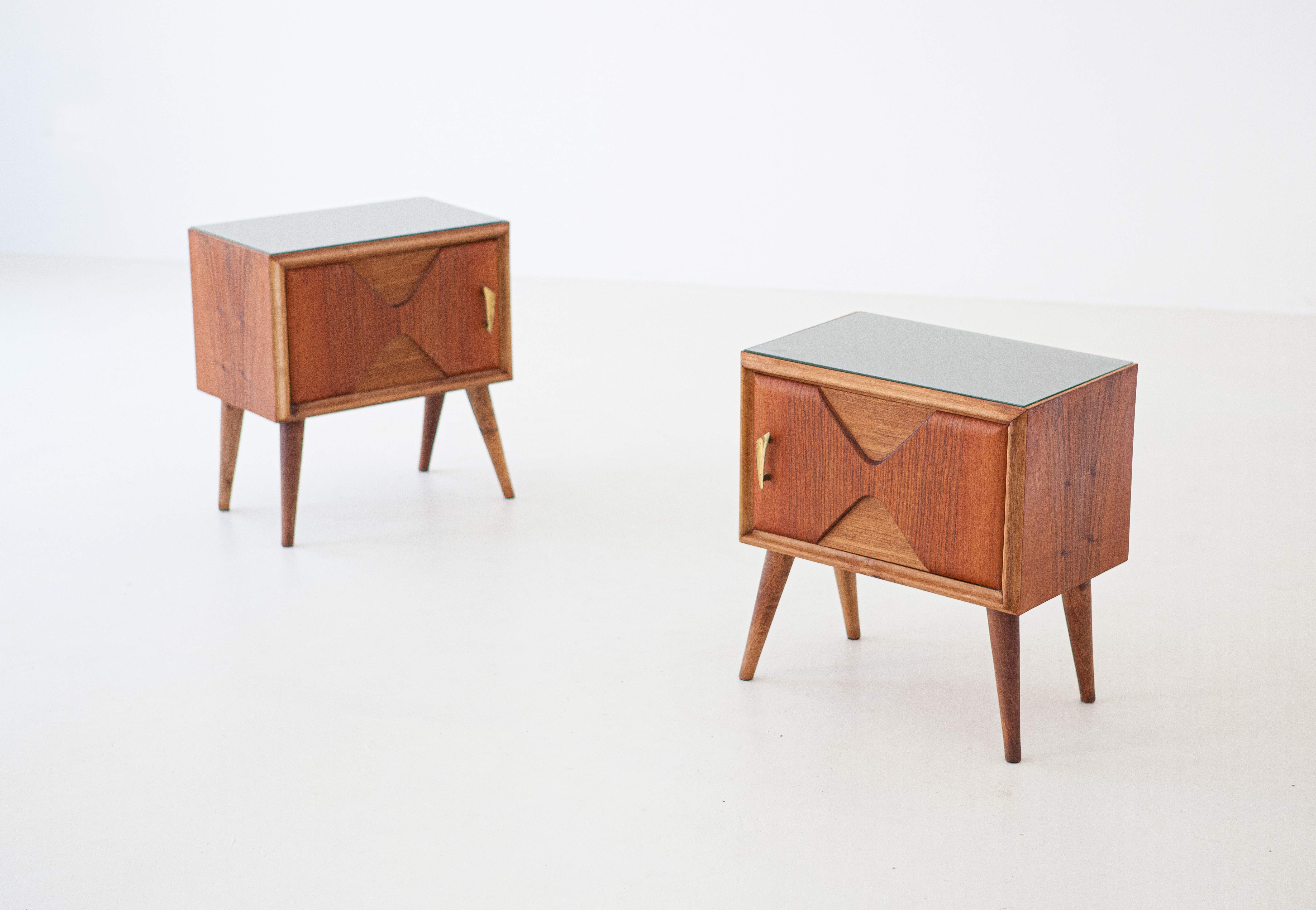 1950s-italian-exotic-wood-brass-glass-bedside-tables-2-BT81