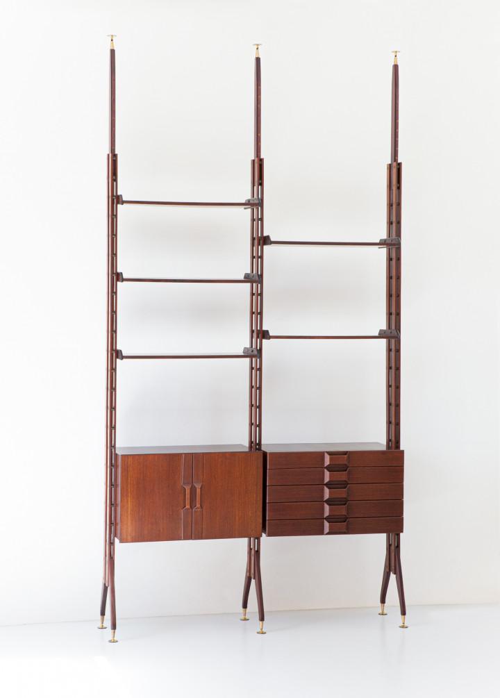 1950s Italian Modern Floor to Ceiling Wall Unit  WU41
