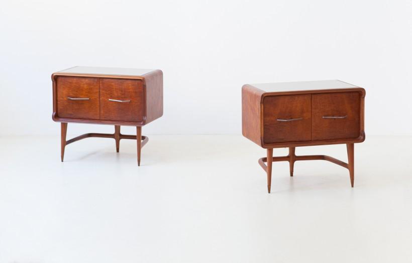 1950s Italian mahogany bedside tables BT90