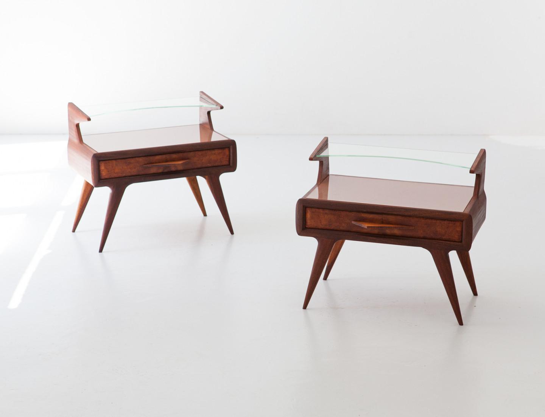 1950s Italian mahogany bedside tables BT96