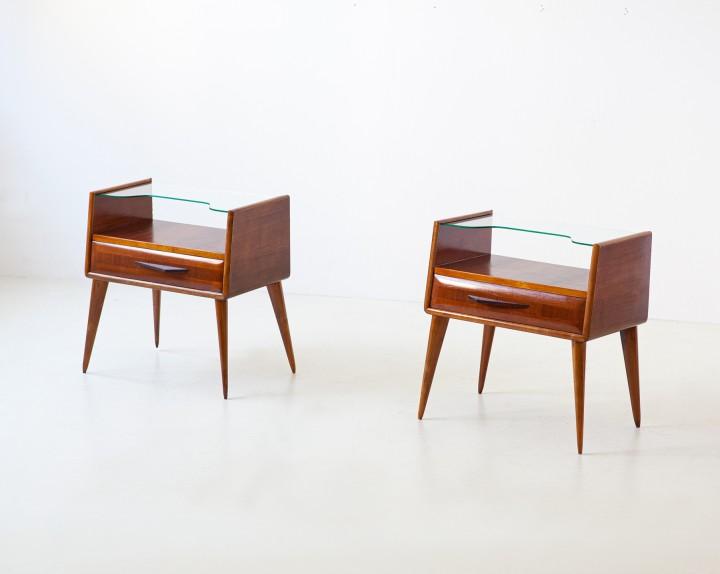 1950s italian mahogany bedside tables BT88 – NOT AVAILABLE