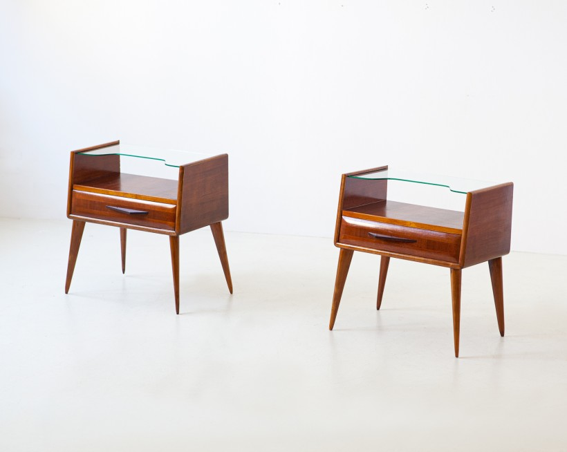 1950s italian mahogany bedside tables BT88