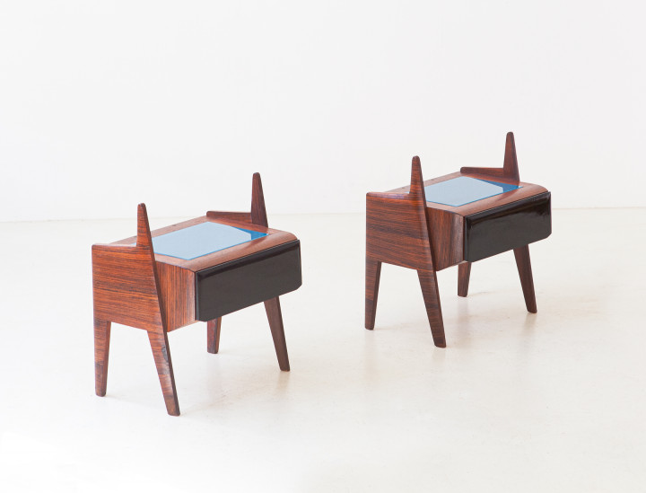 1950s italian rosewood bedside tables BT94