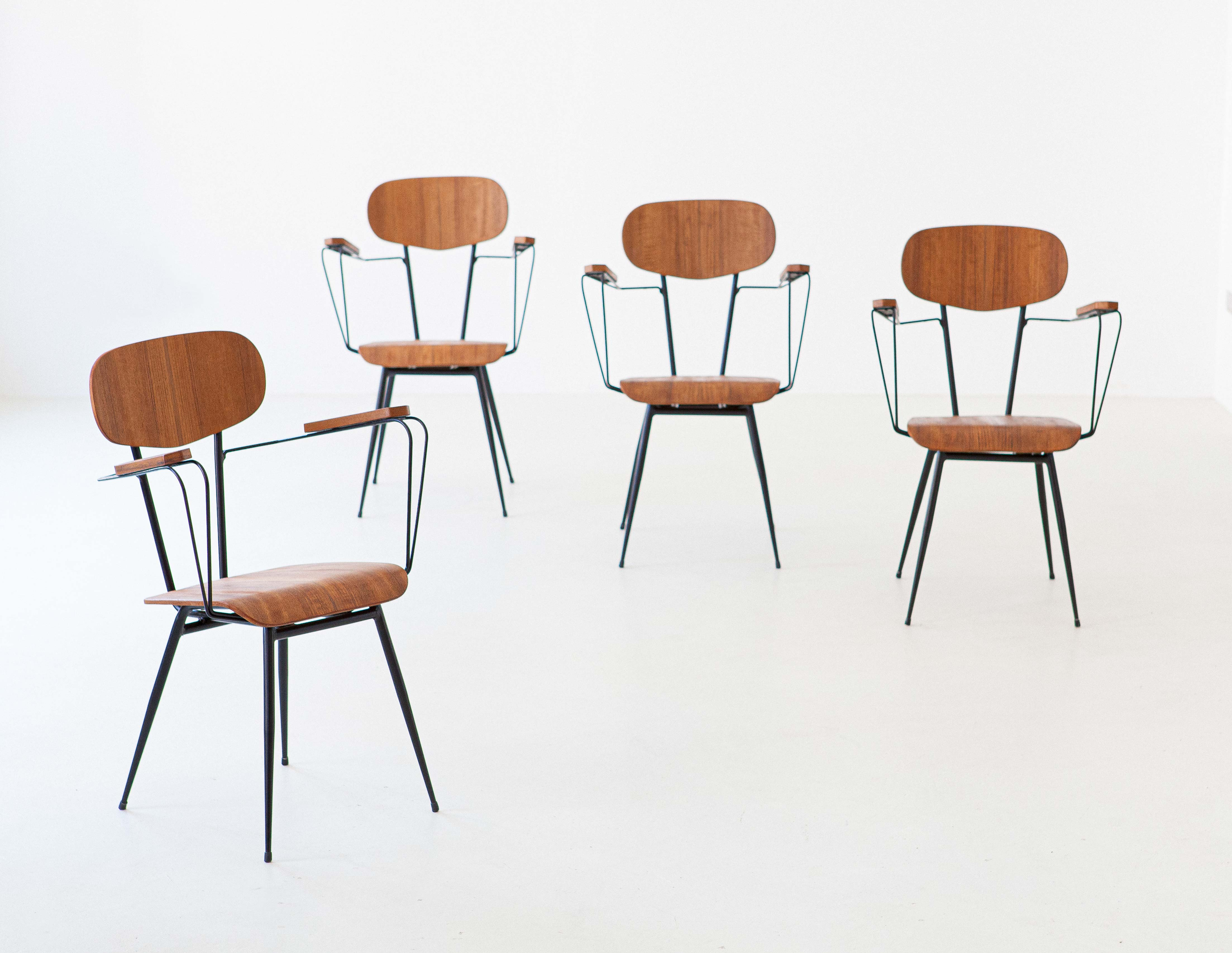 1950s-italian-set-of-four-teak-and-iron-chairs-se303