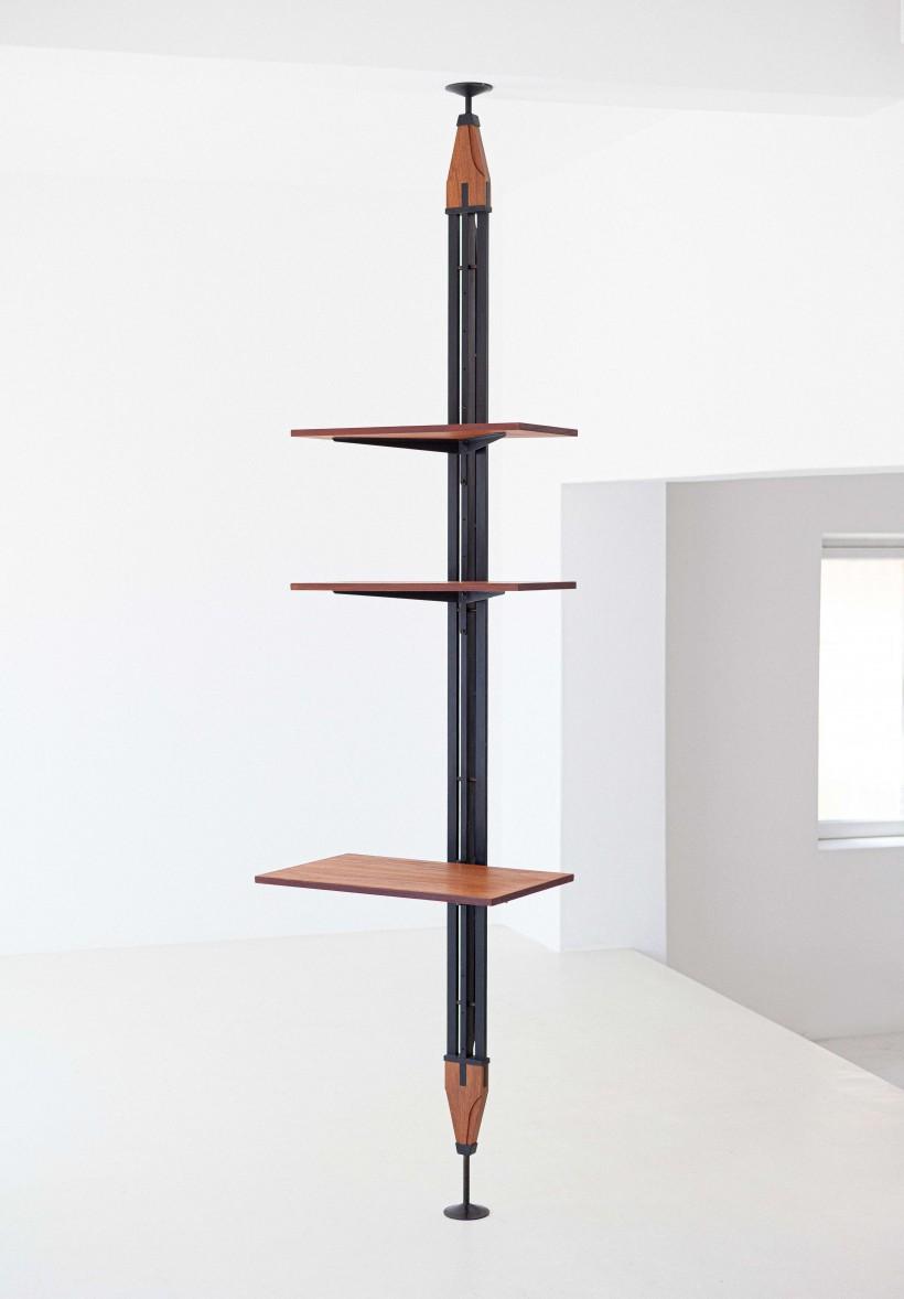 1950's Italian Single Pole- Floor to Ceiling Bookshelf  WU37