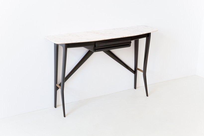1950s italian console table with marble top OF105