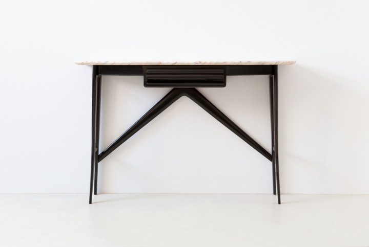 1950s italian console table with marble top OF105 – No longer available..