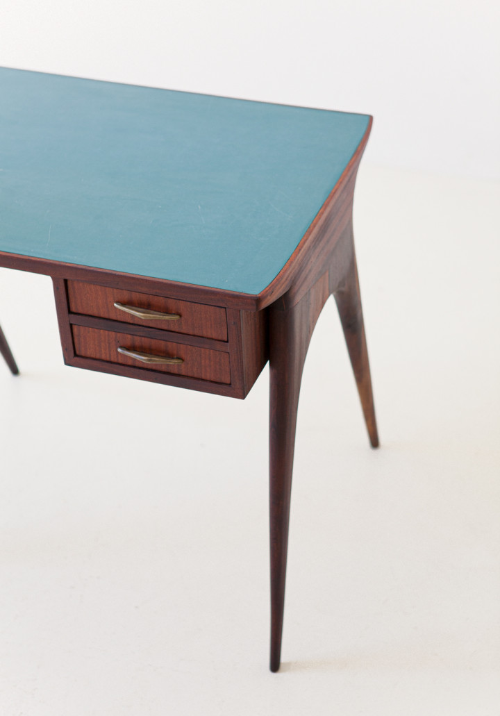 1950s mahogany and brass little desk DT35 – not available