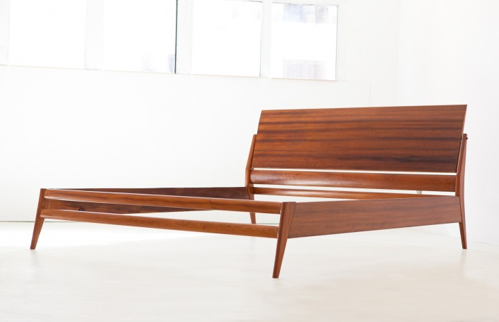 1950s mahogany double bed by Silvio Cavatorta OF101