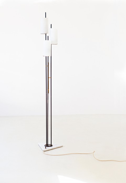 1950s marble brass and opaline glass base lamp by stilnovo L87 – No longer available