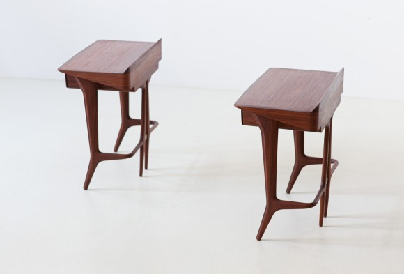 1950s organic shape rosewood bedside tables BT84