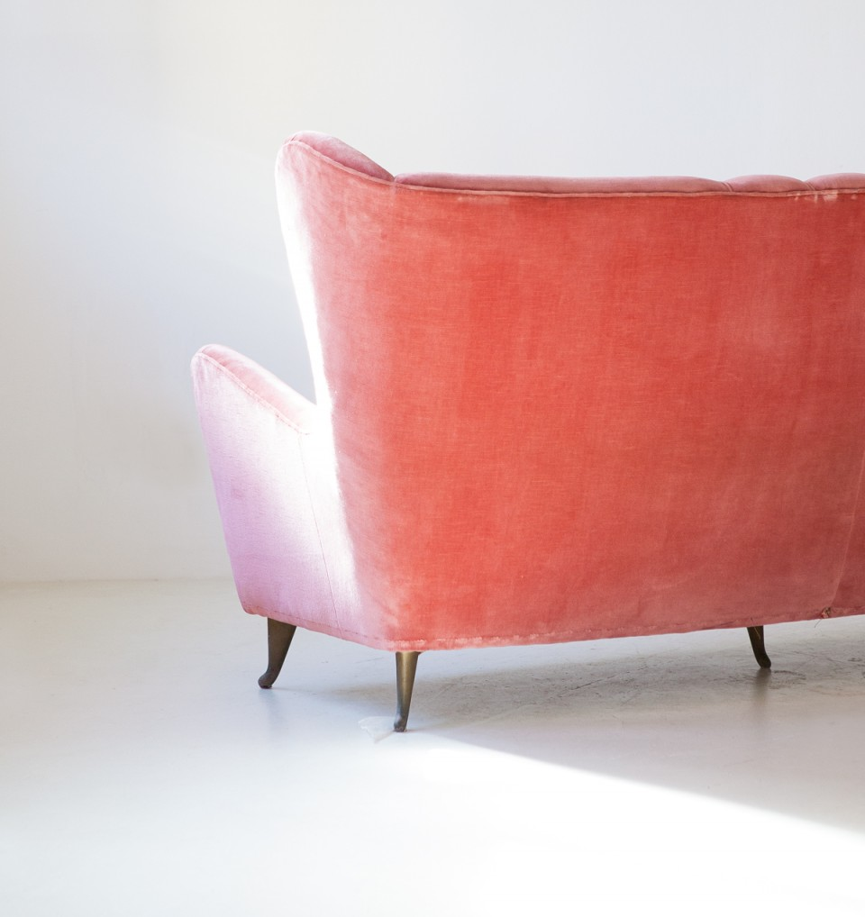 1950s--pink-velvet-three-seater-sofa-by-ISA-1-se324
