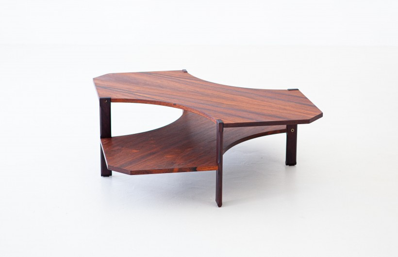 1950s Rosewood two levels side table by Stildomus T83