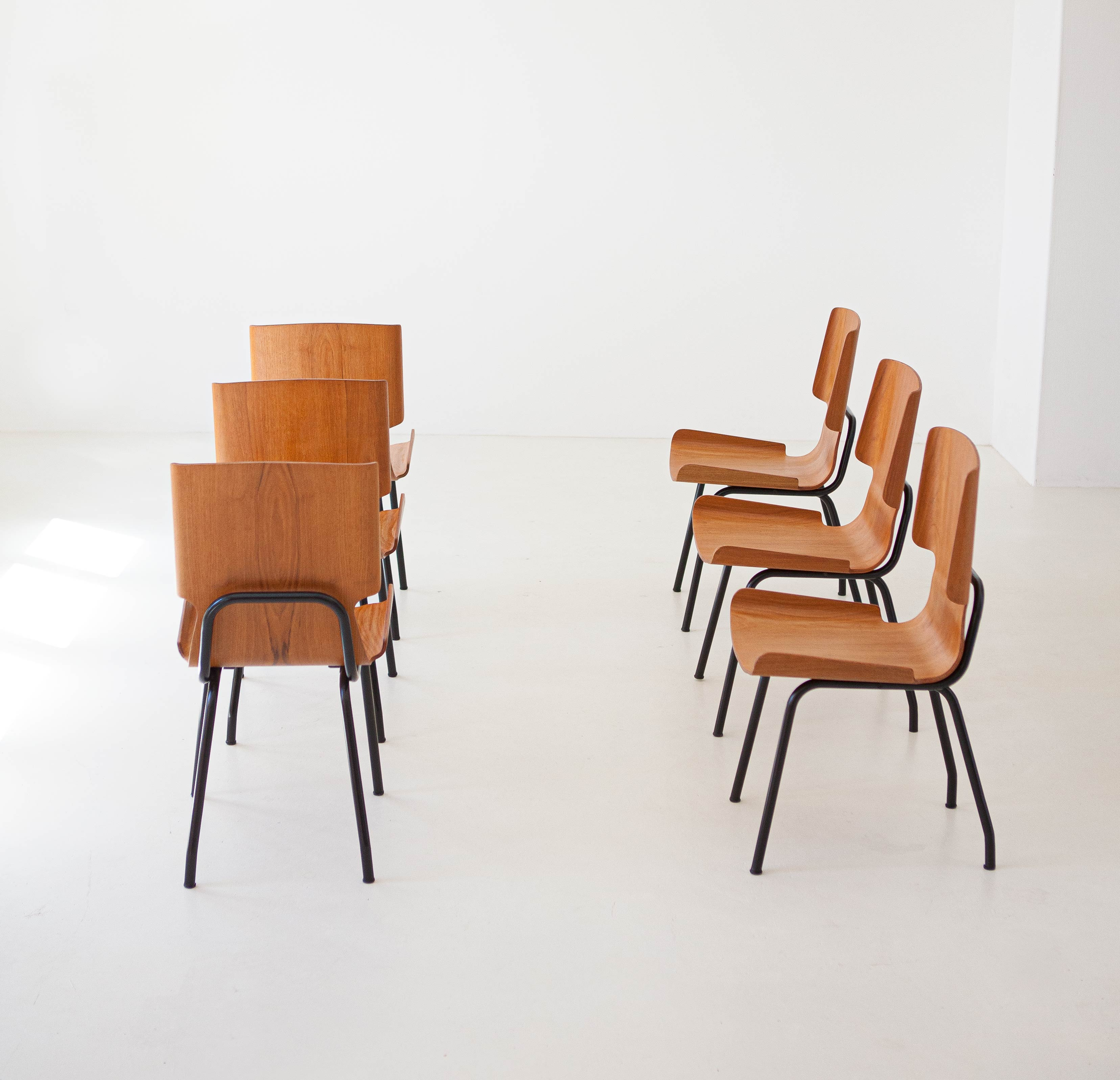 1950s-set-of-six-curved-teak-chairs-by-carlo-ratti-5-se311