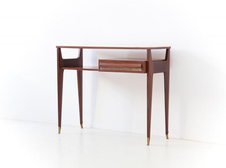 1959s Italian mahogany console with marble top OF113