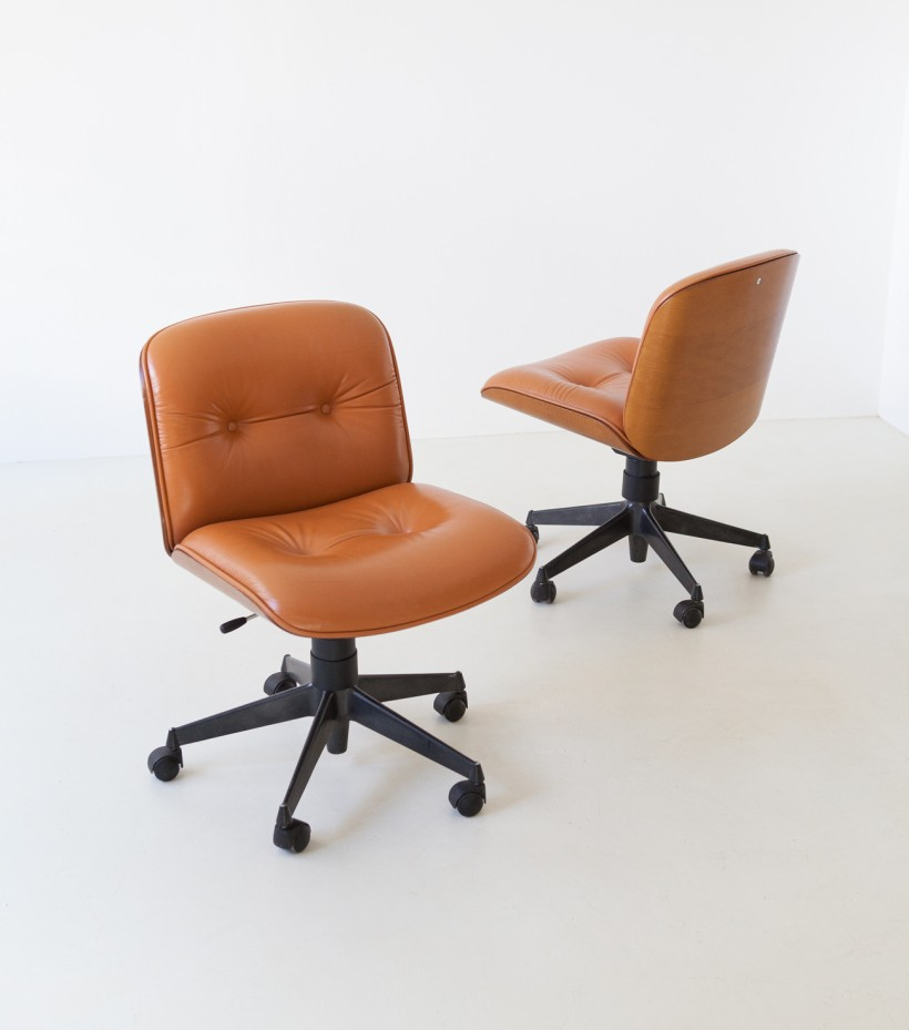 Italian Swivel Chair by Ico Parisi for MIM Roma, 1960s  SE317