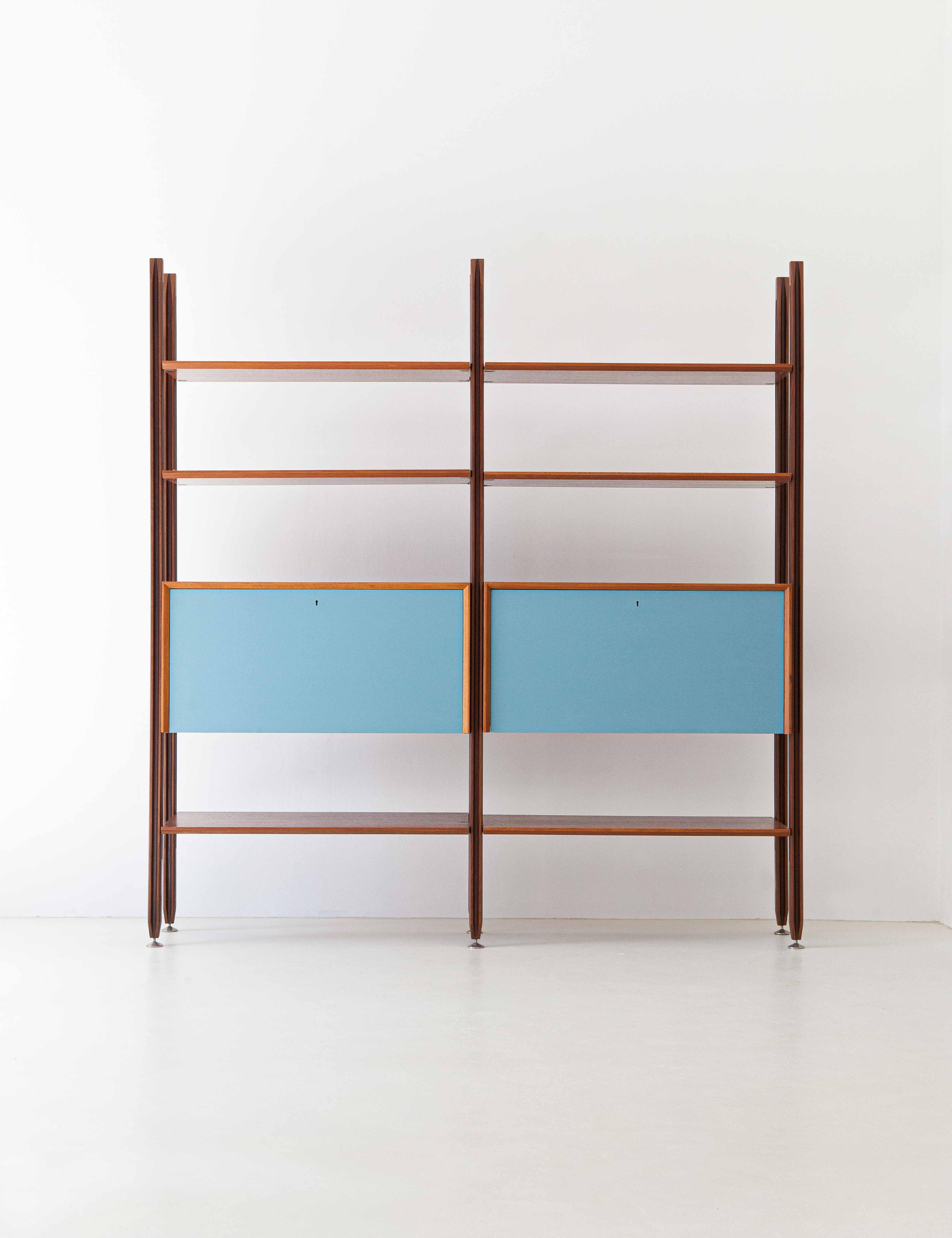 1960s-teak-bookshelf-with-light-blue-doors-2-WU38