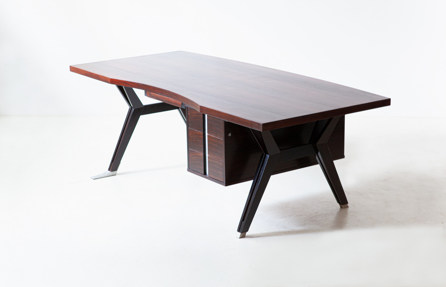 """Rosewood """" Terni """" desk by Ico Parisi for MIM Roma , 1958 DT39"""