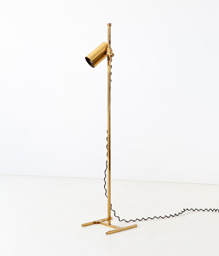 1970s Italian brass floor lamp L95