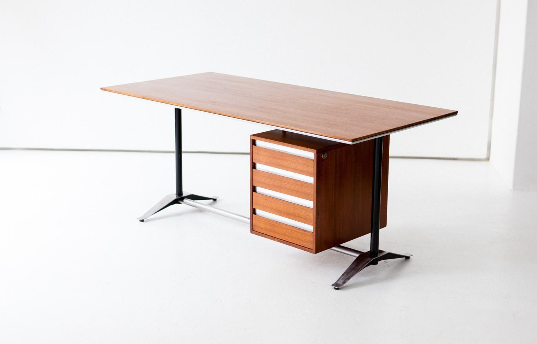 Italian Mid-Century Modern Teak Desk, 1950s DT20