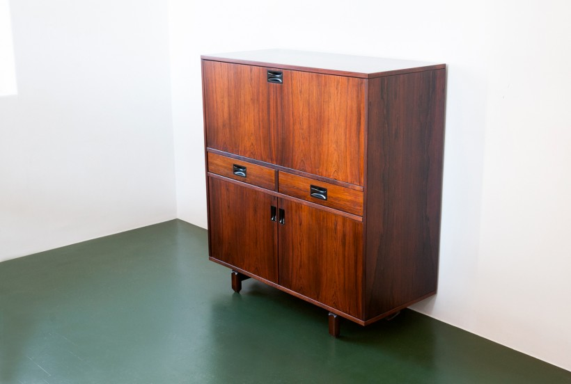 Italian Rosewood Credenza with Bar by 'Stildomus' ST81