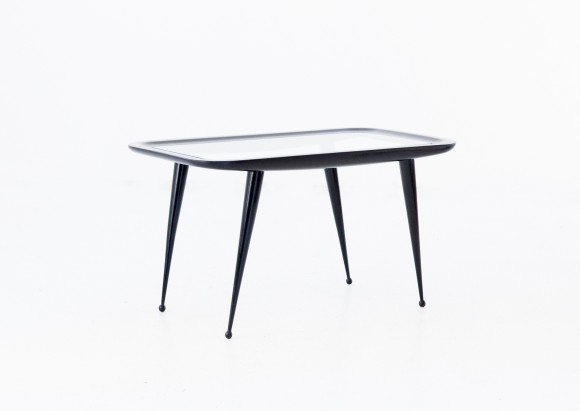 Italian Mid-Century Modern wood and glass Coffee Table, 1950s T67