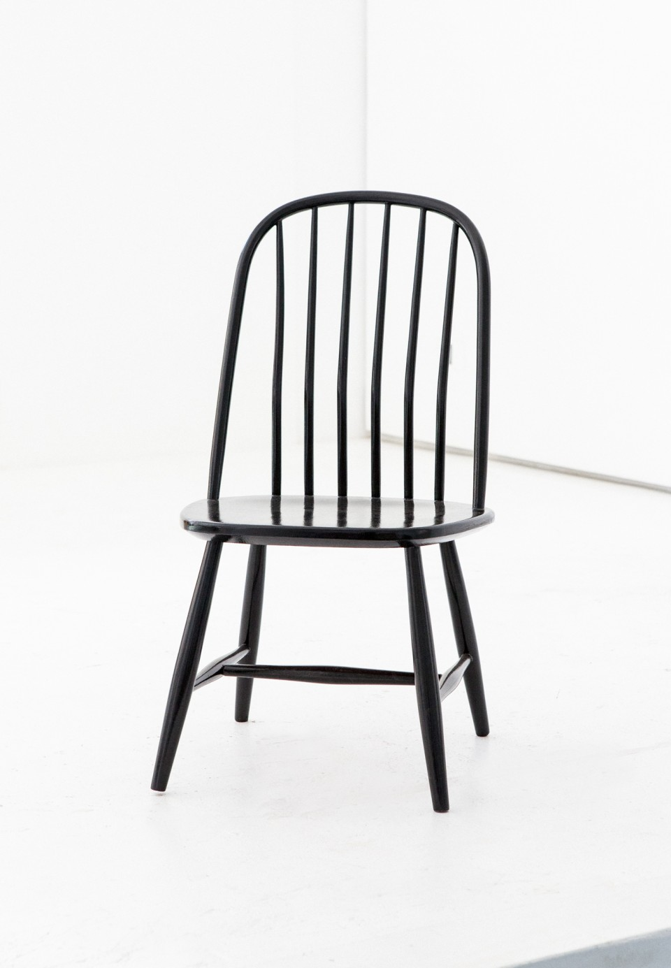 Six Swedish Black Dining Chairs by Bengt Akerblom and G. Eklöf, Sweden SE254