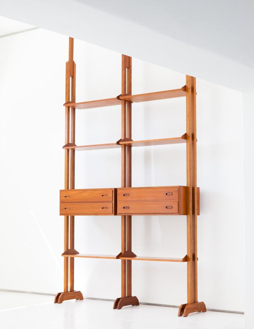Italian mid century modern Teak modular Wall Unit WU33