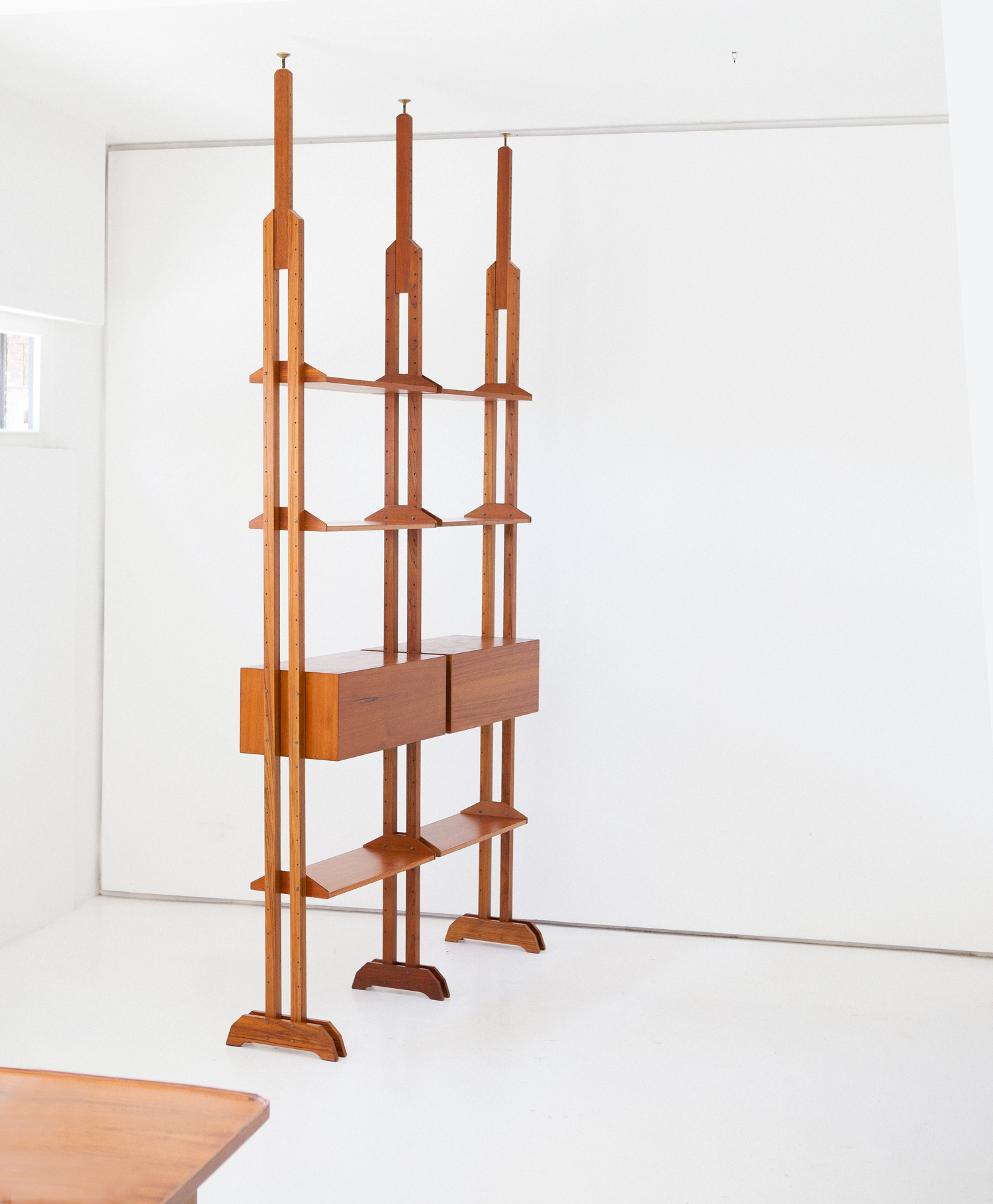 Italian-mid-century-modern-teak-modular-Bookshelf-wall-unit-11