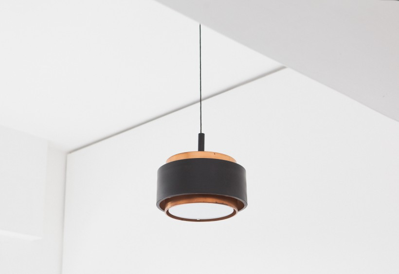 Stilnovo Pendant Copper Chandelier, 1958 L75