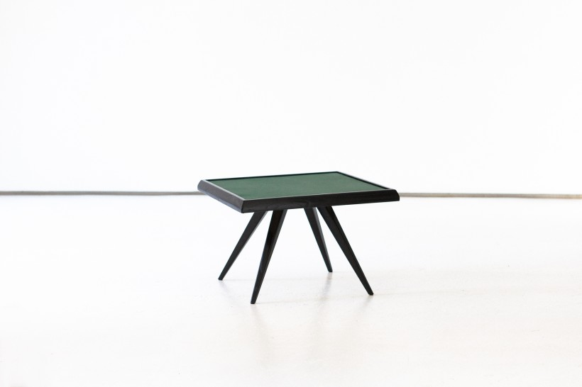 Italian Green Leather Plane Coffee Table, 1950s T75