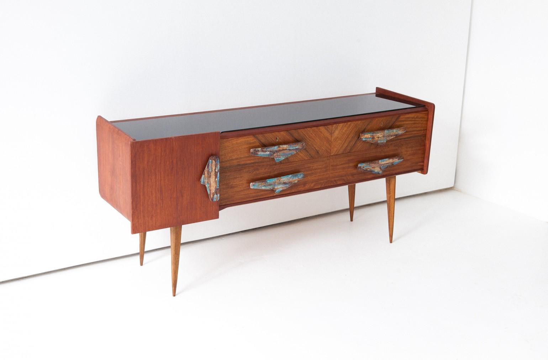 Rare italian  mahogany and teak sideboard ,1950s  ST110 -Not Available