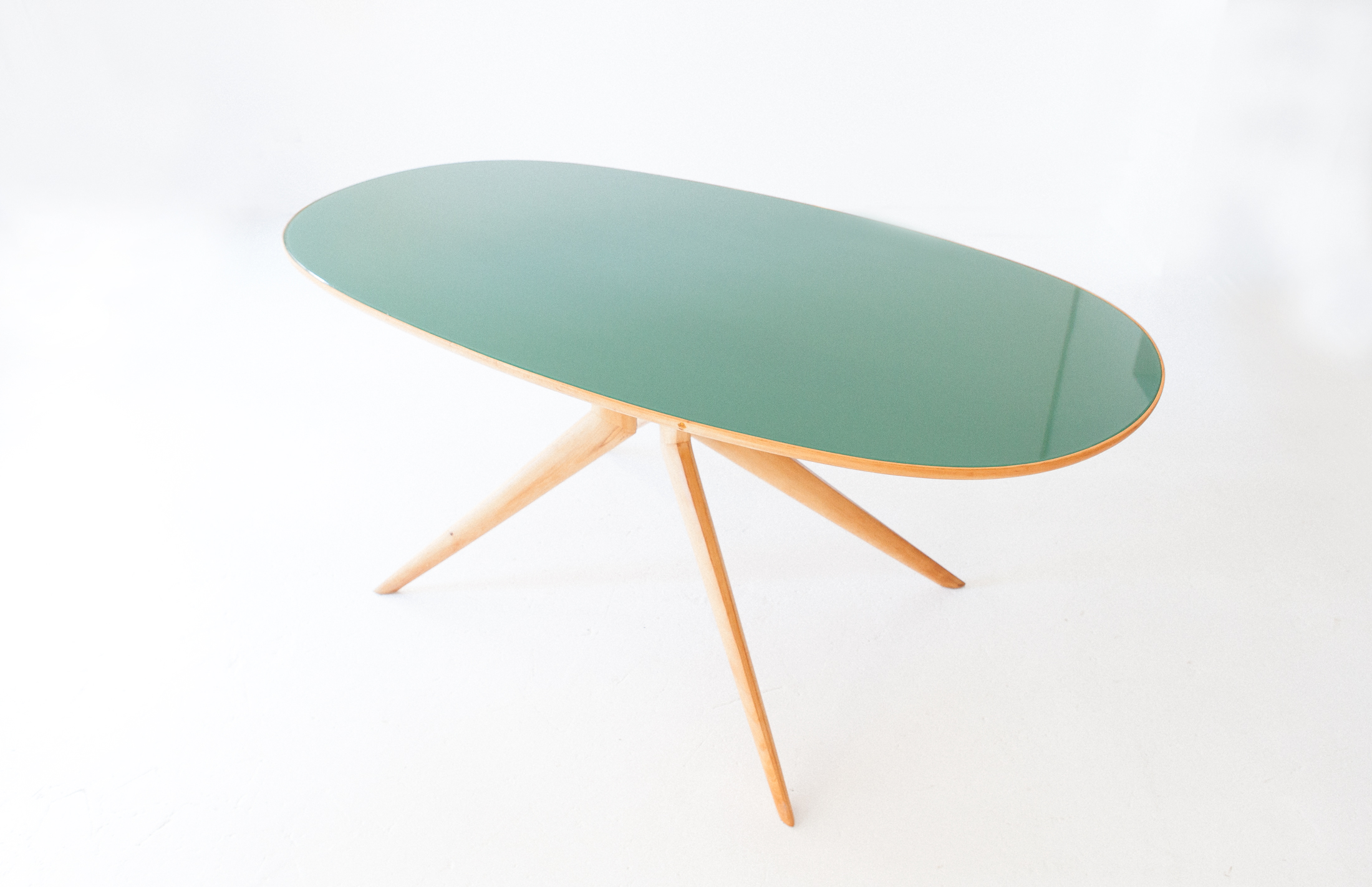 Elliptical-beech-light-green-dining-table-5