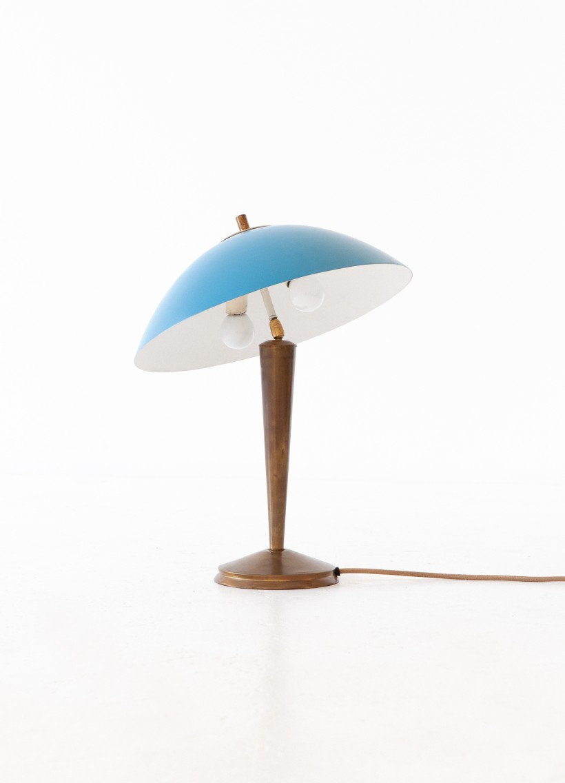 Italian Brass and Blue  Desk Table Lamp, 1950s L78 – No longer available..