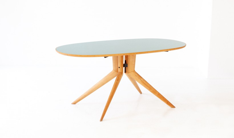 Mid century modern elliptical dining table T76